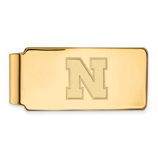 GP052UNE: 925 YGFP Nebraska Money Clip