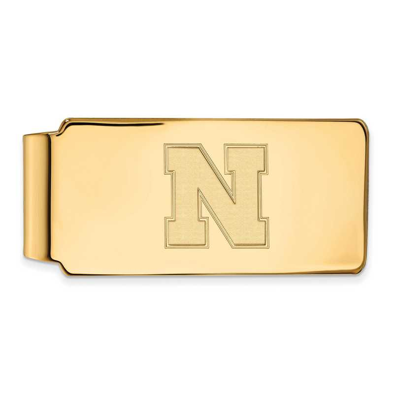 GP052UNE: 925 YGFP Nebraska Money Clip