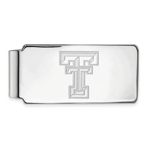 SS025TXT: 925 Texas Tech Money Clip