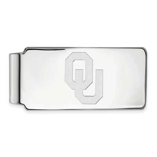 SS026UOK: 925 Oklahoma Money Clip