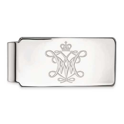 SS003WMA: SS LogoArt William And Mary Money Clip