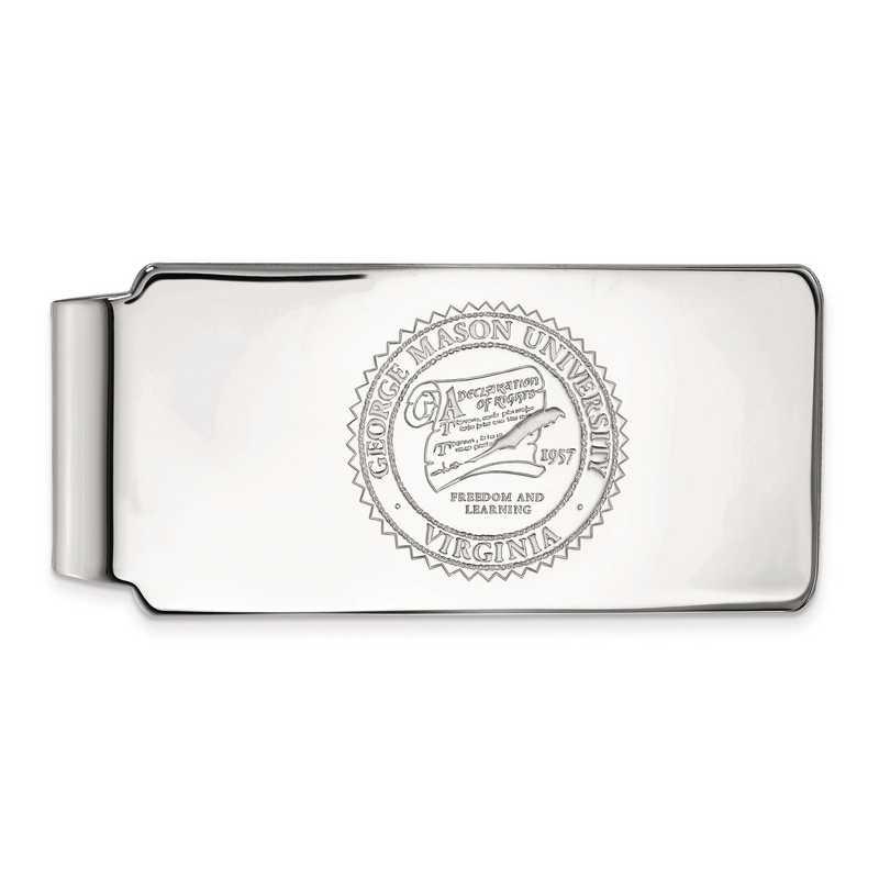 SS017GMU: SS LogoArt George Mason Univ Money Clip Crest