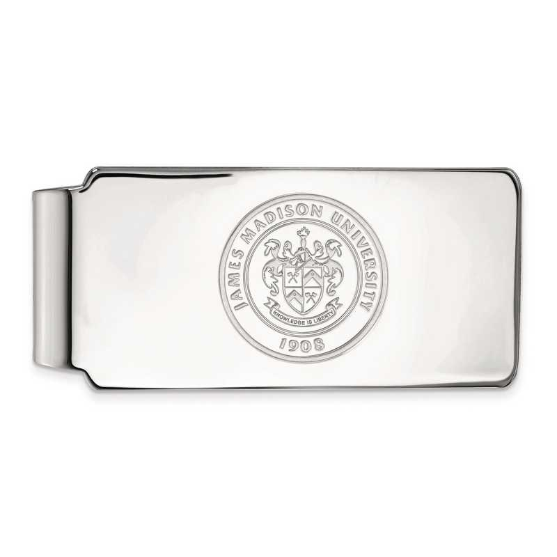 SS018JMU: SS LogoArt James Madison Univ Money Clip Crest