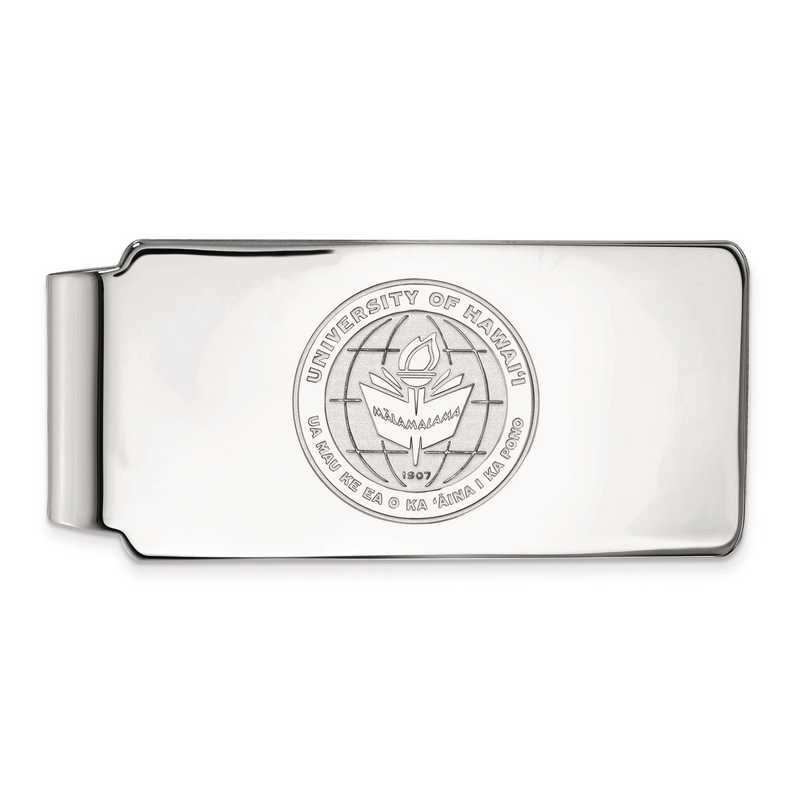 SS018UHI: SS LogoArt The Univ of Hawai'i Money Clip Crest