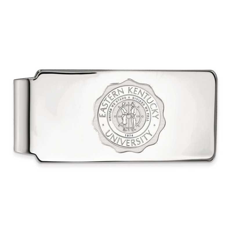 SS019EKU: SS LogoArt Eastern Kentucky Univ Money Clip Crest