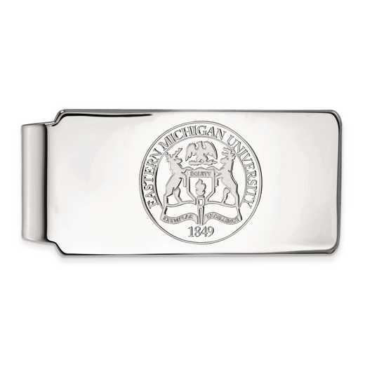 SS019EMU: SS LogoArt Eastern Michigan Univ Money Clip Crest