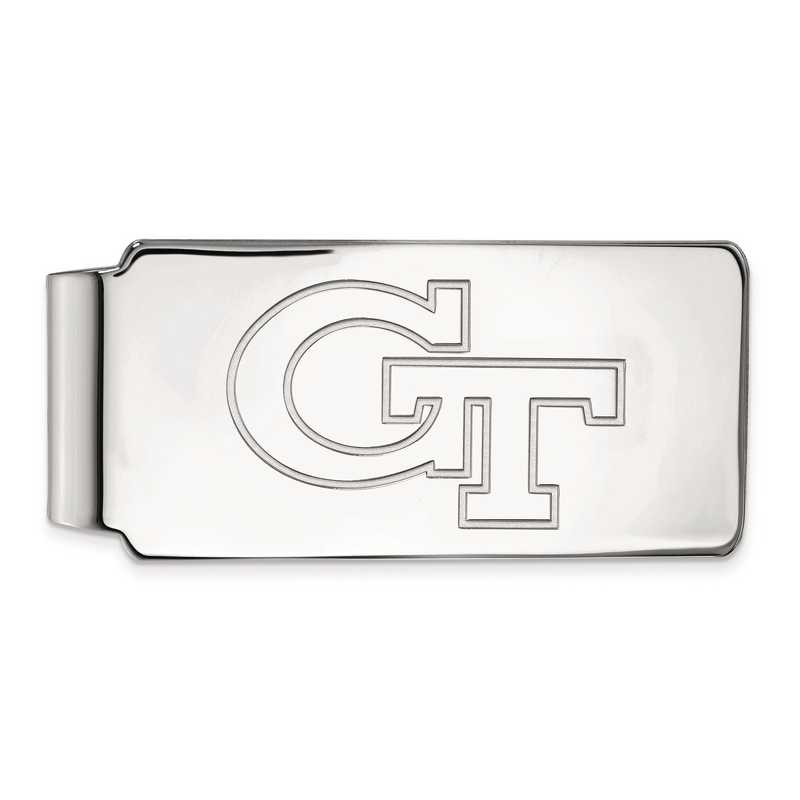 SS019GT: SS LogoArt Georgia Institute of Technology Money Clip