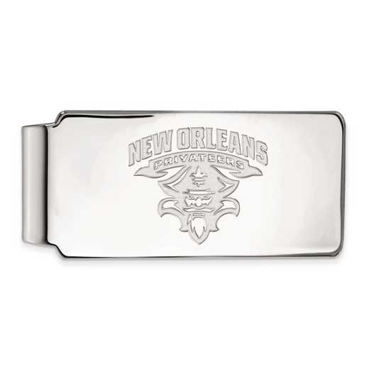 SS020UNO: SS LogoArt Univ of New Orleans Money Clip
