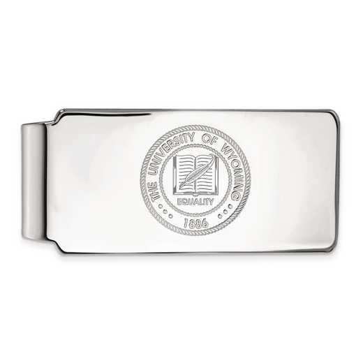 SS021UWY: SS LogoArt The Univ of Wyoming Money Clip Crest