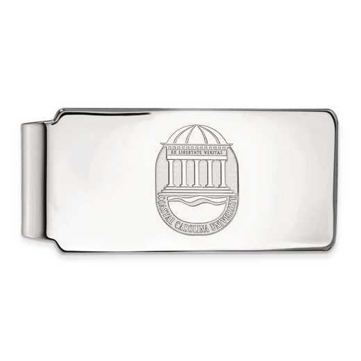 SS023CCU: SS LogoArt Coastal Carolina Univ Money Clip Crest