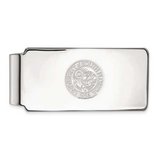 SS023USFL: SS LogoArt Univ of South Florida Money Clip Crest
