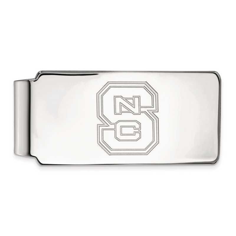 SS025NCS: SS LogoArt North Carolina State Univ Money Clip