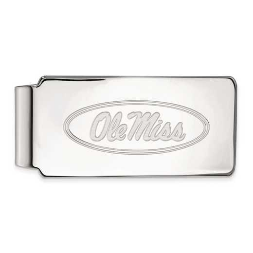 SS025UMS: SS LogoArt Univ of Mississippi Money Clip