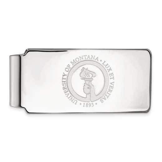 SS025UMT: SS LogoArt Univ of Montana Money Clip Crest