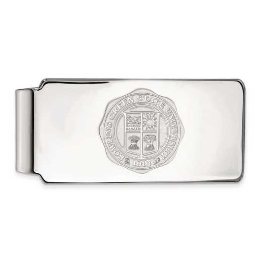 SS027BG: SS LogoArt Bowling Green State Univ Money Clip Crest