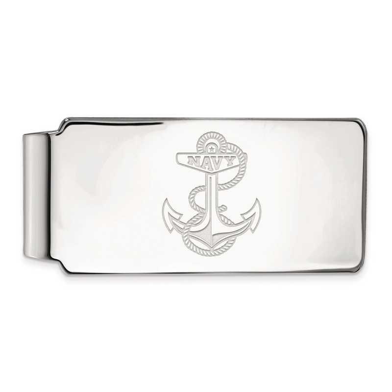SS029USN: SS LogoArt Navy Money Clip