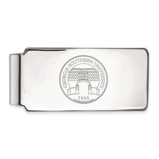 SS030GSU: SS LogoArt Georgia Southern Univ Crest Money Clip