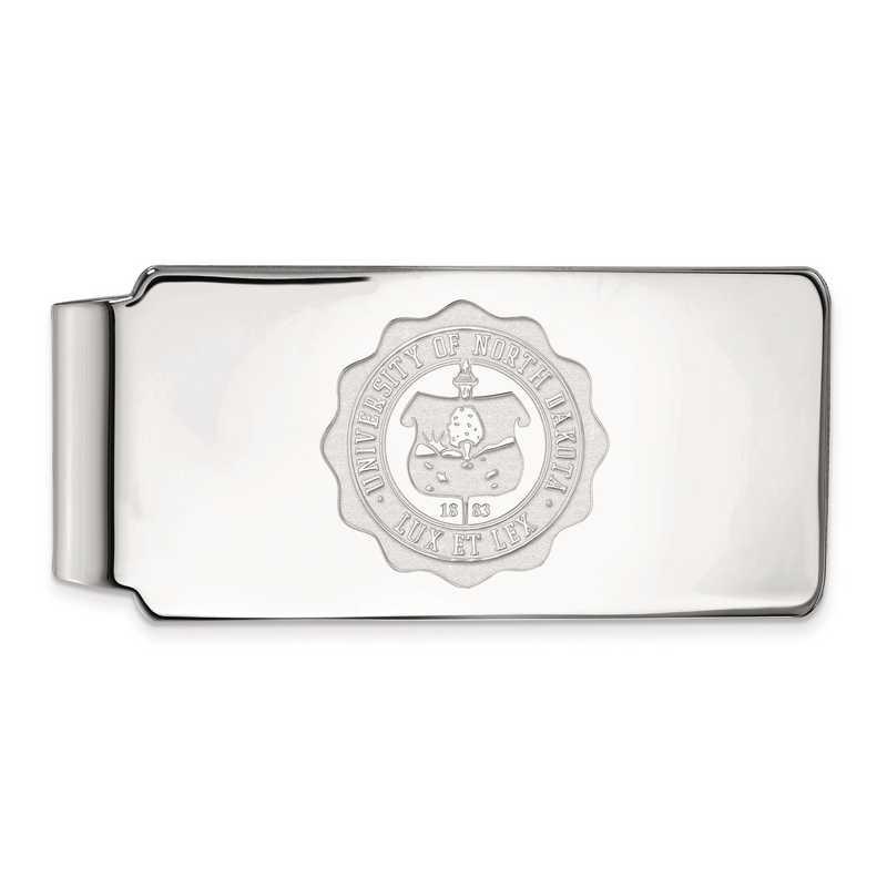 SS032UNOD: SS LogoArt Univ of North Dakota Money Clip Crest