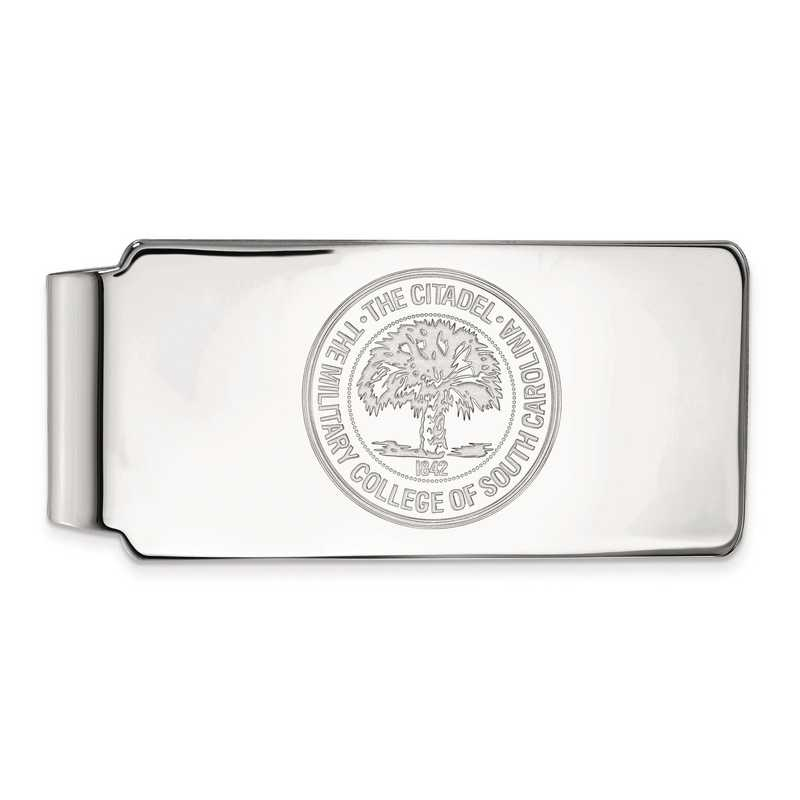 SS034TCI: SS LogoArt The Citadel Money Clip Crest