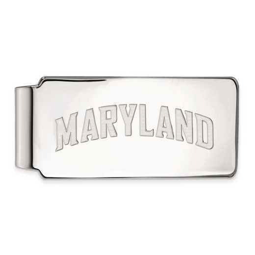 SS037UMD: SS LogoArt Maryland Money Clip