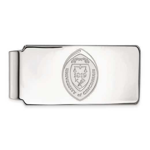 SS044UC: SS LogoArt Univ of Cincinnati Money Clip Crest