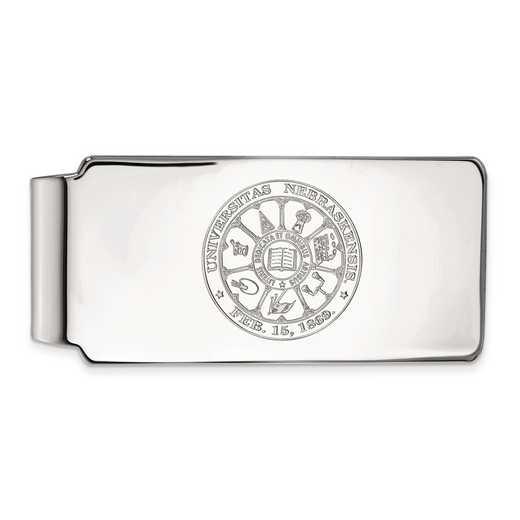 SS047UNE: SS LogoArt Univ of Nebraska Money Clip Crest