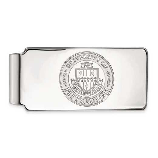 SS049UPI: SS LogoArt Univ of Pittsburgh Money Clip Crest