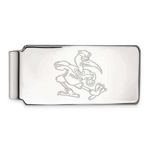 SS063UMF: SS LogoArt Univ of Miami Money Clip