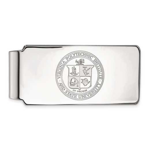SS066VTE: SS LogoArt Virginia Tech Money Clip Crest