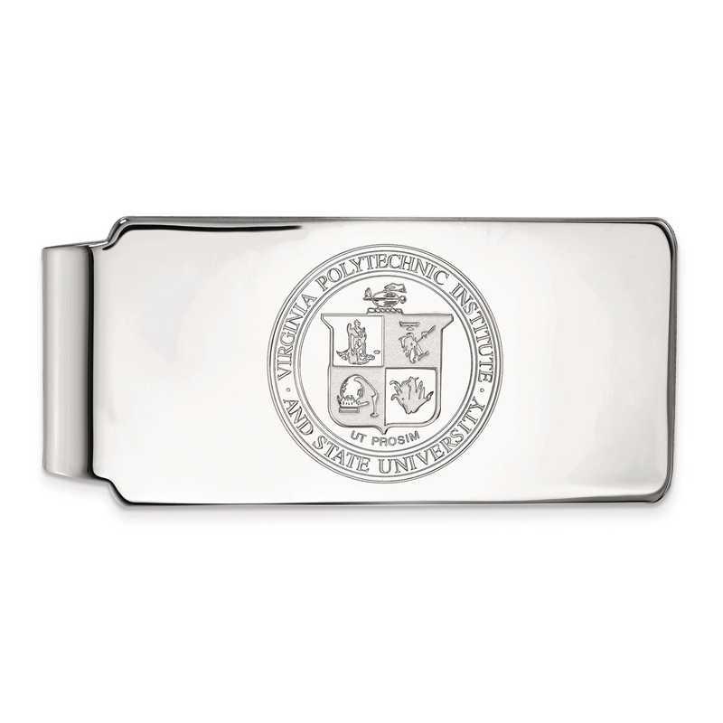 SS066VTE: SS LogoArt Virginia Tech Money Clip Crest