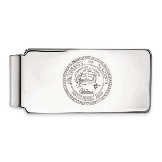SS070UIL: SS LogoArt Univ of Illinois Crest Money Clip