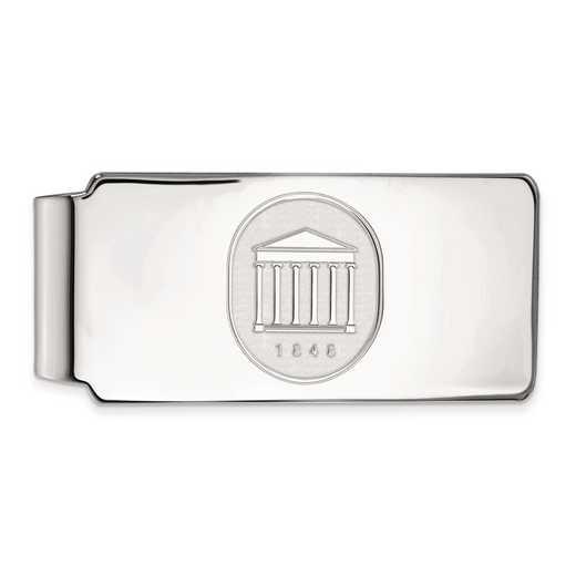 SS074UMS: SS LogoArt Univ of Mississippi Money Clip Crest