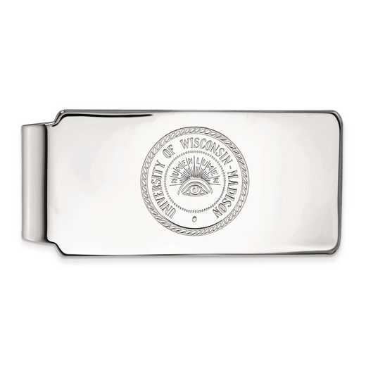 SS083UWI: SS LogoArt Univ of Wisconsin Money Clip