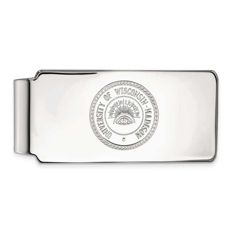 SS083UWI: SS LogoArt Univ of Wisconsin Money Clip
