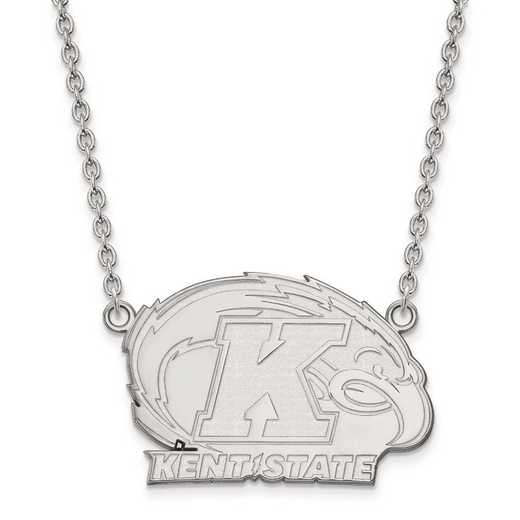 1W009KEN-18: 10kw LogoArt Kent State University Large Pendant w/Necklace