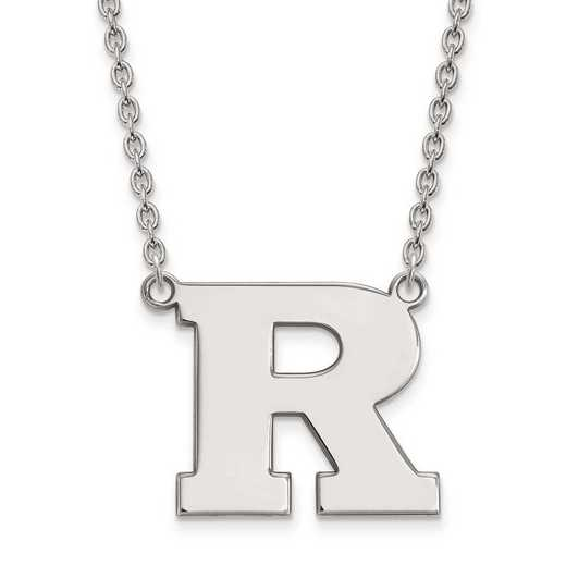 1W009RUT-18: 10kw LogoArt Rutgers Large Pendant w/Necklace