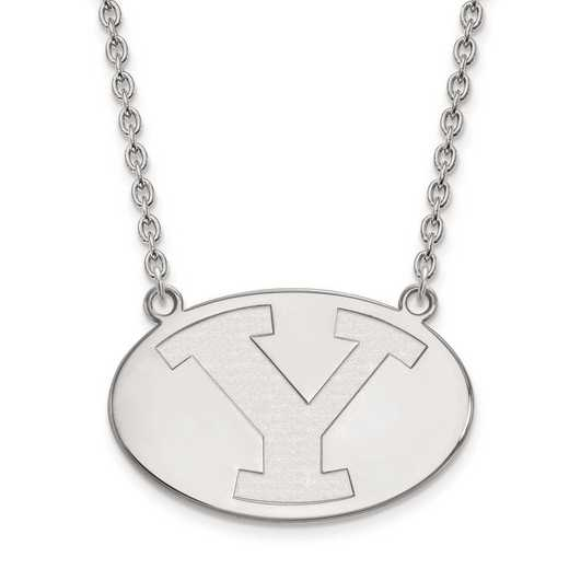 1W010BYU-18: 10kw LogoArt Brigham Young Univ Large Pendant w/Necklace