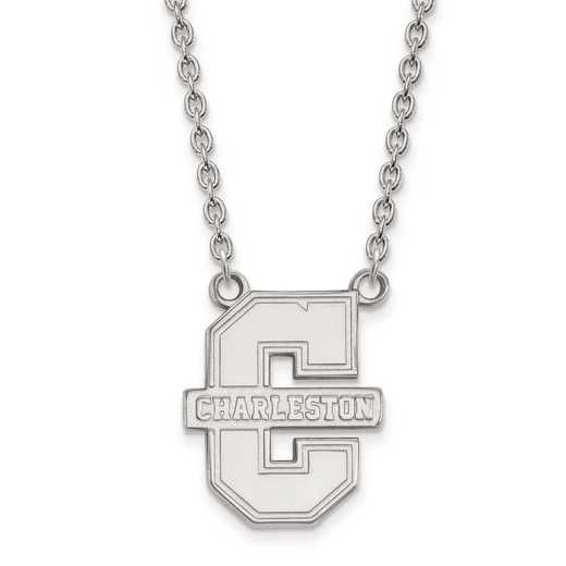 1W010CHC-18: 10kw LogoArt College of Charleston Large Pendant w/Necklace