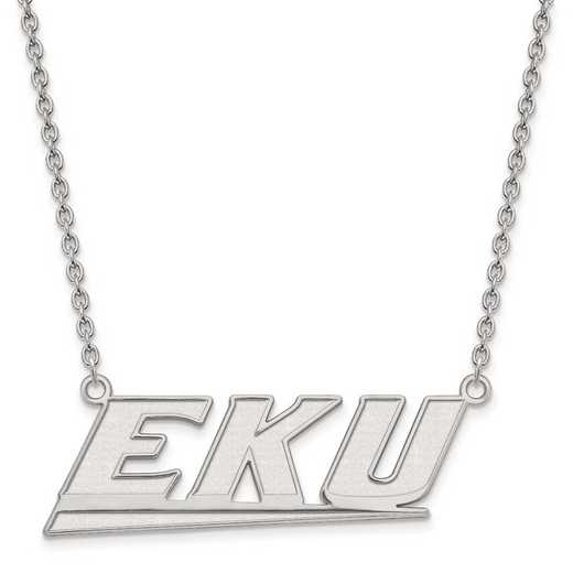1W010EKU-18: 10kw LogoArt Eastern Kentucky Univ Large Pendant w/Necklace