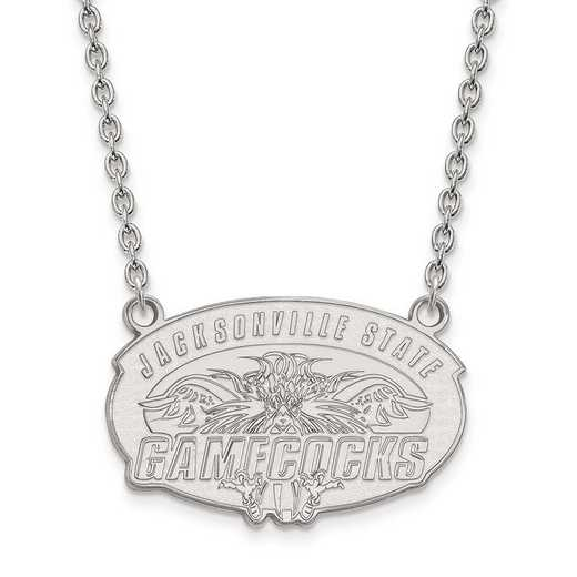 1W010JAC-18: 10kw LogoArt Jacksonville State Univ Large Pend w/Necklace