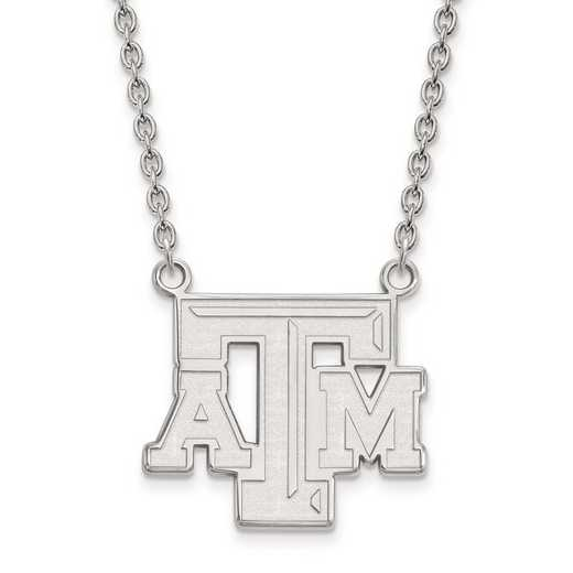 1W010TAM-18: 10kw LogoArt Texas A&M University Large Pendant w/Necklace