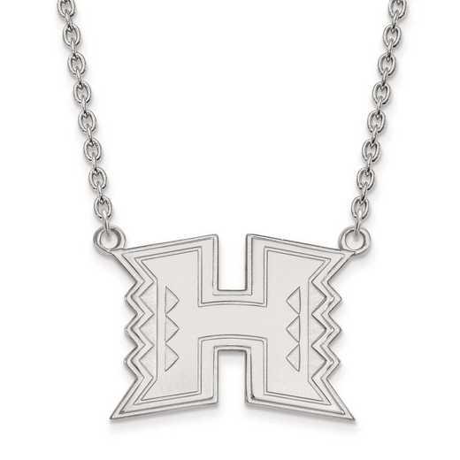 1W010UHI-18: 10kw LogoArt The Univ of Hawai'i Large Pendant w/Necklace