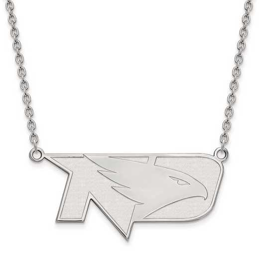 1W010UNOD-18: 10kw LogoArt Univ of North Dakota Large Pendant w/Necklace