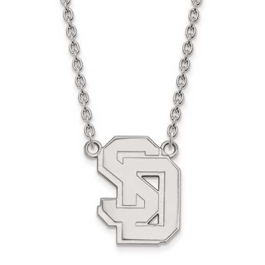 1W010USD-18: 10kw LogoArt Univ of South Dakota Large Pendant w/Necklace