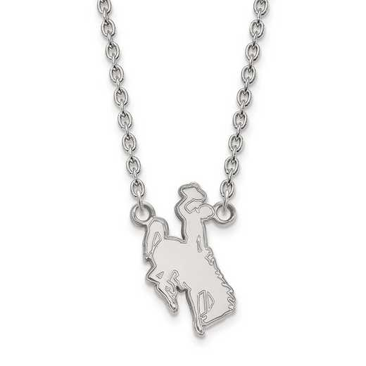 1W010UWY-18: 10kw LogoArt The Univ of Wyoming Large Pendant w/Necklace