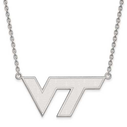 1W010VTE-18: 10kw LogoArt Virginia Tech Large Pendant w/Necklace