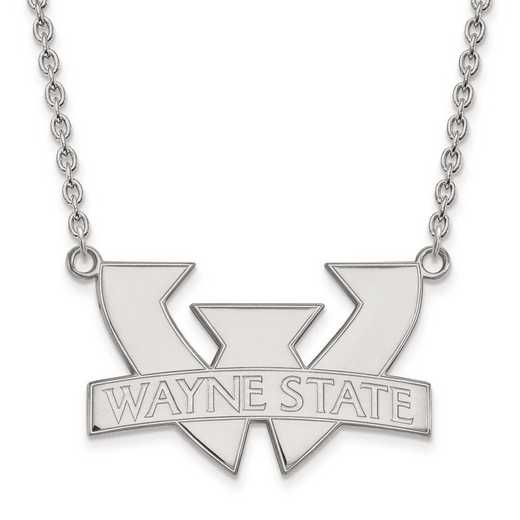 1W010WAY-18: 10kw LogoArt Wayne State University Large Pendant w/Necklace
