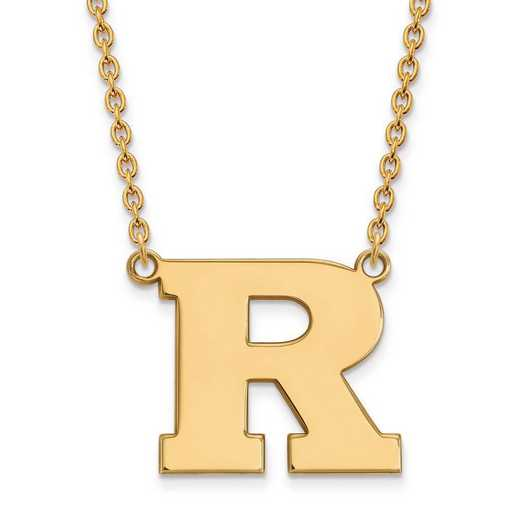 1Y009RUT-18: 10ky LogoArt Rutgers Large Pendant w/Necklace