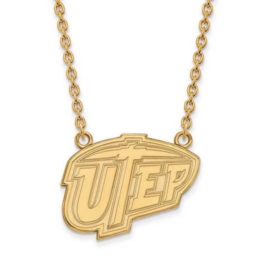 1Y009UTE-18: 10ky LogoArt The Univ of Texas at El Paso Large Pend w/Neck