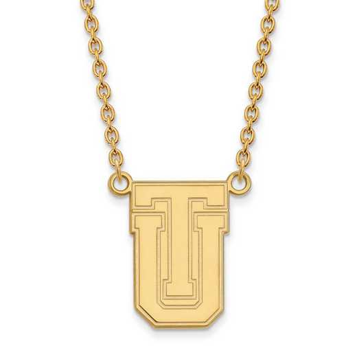 1Y009UTL-18: 10ky LogoArt The Univ of Tulsa Large Pendant w/Necklace